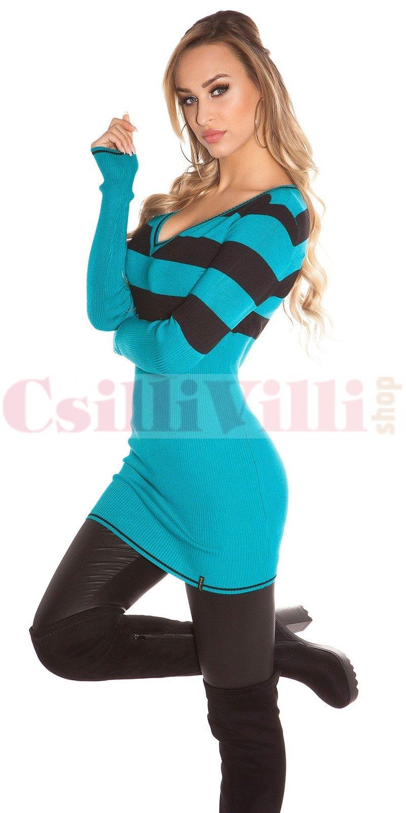 3241c76190 Csíkos, hosszított női pulóver - CsilliVilliShop.huCsilliVilliShop.hu